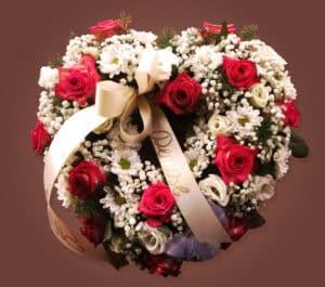 Composizione floreale funebre 1