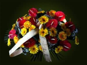 Composizione floreale funebre 2