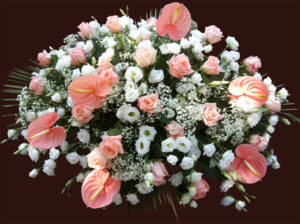 Composizione floreale funebre 3